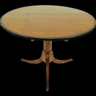 Biedermeier Yew Wood Center Table on Tripod Base