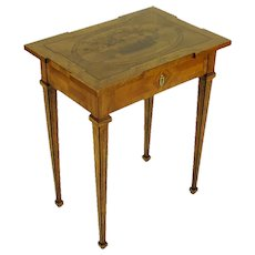 Neoclassical Walnut and Cherry Occasional Table