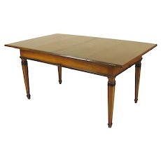 Neoclassical Dining Oak Extension Table