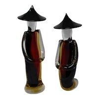 Giant Murano Glass Chinese Figurines
