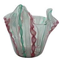 Vintage Murano Glass Handkerchief Vase