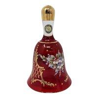Red Murano Glass Bell