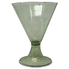 Vintage Green Murano Wine Goblet