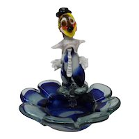 Vintage Murano Glass Clown Candy Dish