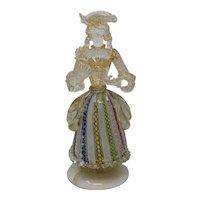 Vintage Filligrana Murano Glass Lady