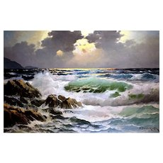 """""""Rolling Tempest"""" Oil Painting by Noted Artist Alexander Dzigurski"""