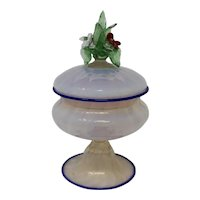 Vintage 1940s Murano Glass Compote