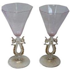 Archimede Seguso Wine Glasses