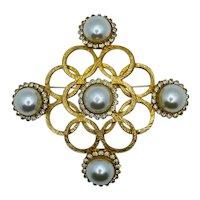 Vintage Jeanne Brooch Pin Signed