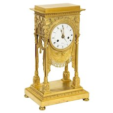 An Exceptional Quality French Ormolu Clock with Dragonflies, circa 1830