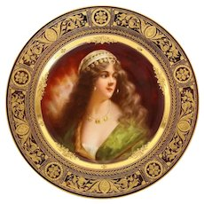 "Rare and Exceptional Royal Vienna Porcelain Plate of ""Yessida"" by Wagner"