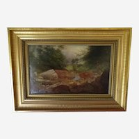 Oil painting on wood by William Smeall (Scotland 1790-1883)