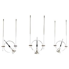 Valenti EMME 12 V - set of 9 Tecno spotlights, design G. Raimondi, 1989.