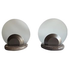 SkipperSkipper, couple of GONG table lamps, design Bruno Gecchelin, 1984, couple of GONG table lamps, design Bruno Gecchelin, 1984