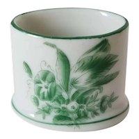 Vintage Herend Green Floral Toothpick Holder
