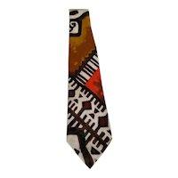 60's Hawaiian Barkcloth Necktie