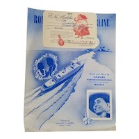 Hawaiian Sheet Music 1952 Romance on the S.S. Lurline Honolulu to San Francisco