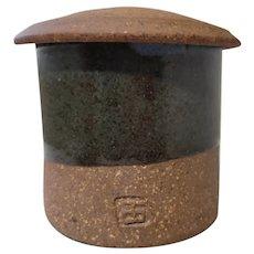 Byron Temple Studio Pottery Stoneware Lidded Jar
