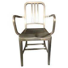 Emeco Aluminum Navy Arm Chairs (Set of 4)