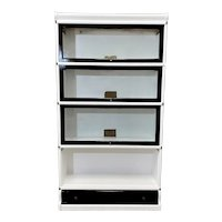 White Lacquered Hale Barrister Globe Wernicke Bookcase