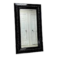Early 1900's Black Lacquered Mirror - Fine Finished by Studio 60