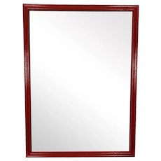 Vintage Red Wall Mirror