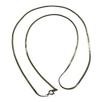 "Vintage Estate Women's Gold Plated 29"" Herringbone Necklace"