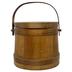 1950s Rustic Jerywil Wooden Ice Bucket