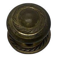 Vintage Estate Brass Round Door Drawer Knob