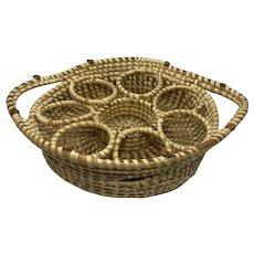 Charleston Sweet Grass Gullah Basket Handled Drink Serving Tray