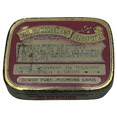 """French """"Blackoids Browns"""" Lozenges Tin Box"""