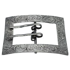 Art Nouveau English Sterling Belt Buckle