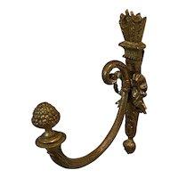 French Art Nouveau Brass Single Tieback