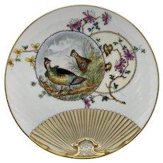 Vintage Estate American Game-Birds - Partridge Porcelain Decorative Plate