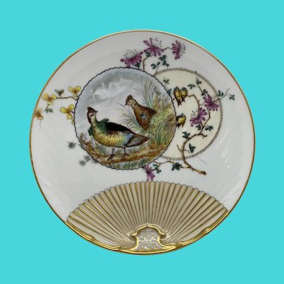 Vintage Estate American Game-Birds - Partridge Porcelain Decorative Plate