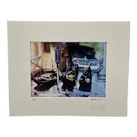 "Original Signed Oil Painting of ""Venezia: Three Gondolas"" by Max Studio, Venice, Italy"
