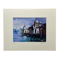 """Signed Original Oil Painting of """"Venezia: The Grand Canal"""" by Max Studio, Venice Italy"""