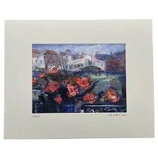 "Original Signed Oil Painting of ""Venezia"" by Max Studio, Venice, Italy"