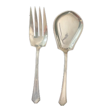 Beautiful Sterling Towle 1917 Lady Mary Salad Serving 2 Pcs.