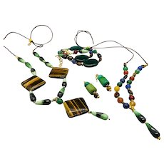 Tyger, Tyger, Burning Bright...  jewelry set in tiger's eye and multiple gemstones