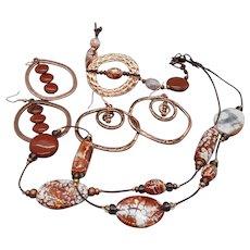 Santa Fe trip... jewelry set made of terra agate and red jasper