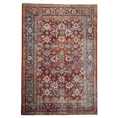 Antique Persian Mahal Area Rug from 1880- 210x306cm