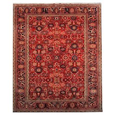 Hand Woven Antique Persian Malayer Rug -290x390cm