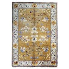 Luxurious Irish Antique Wool Carpet- Area Rug 201x290cm