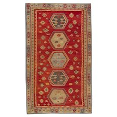 Turkish Anatolian Kilim Area Rug, 1920- 163x327cm