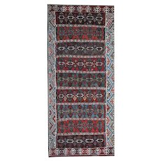 Antique Anatolian Kilim Handwoven Wool Area Rug175x410cm