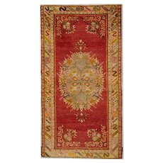 Traditional Red Turkish, Anatolia Area Rug 1900- 103x197cm