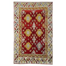 Unique Vintage Anatolian Area Rug 1940-173x277cm