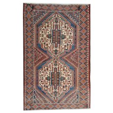 Hand Woven Persian Afshar Area Rug 1900- 134x 250cm