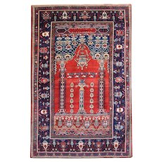 Hand Woven Caucasian Wool Area Rug 1890- 175x275cm